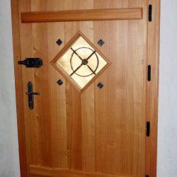 Haustüre Holz mit Glas